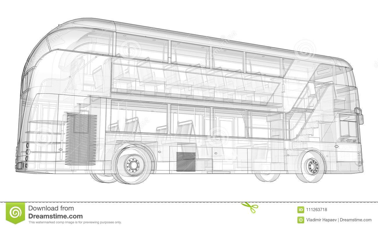 A Double-decker Bus, A Translucent Casing Under Which Many ...