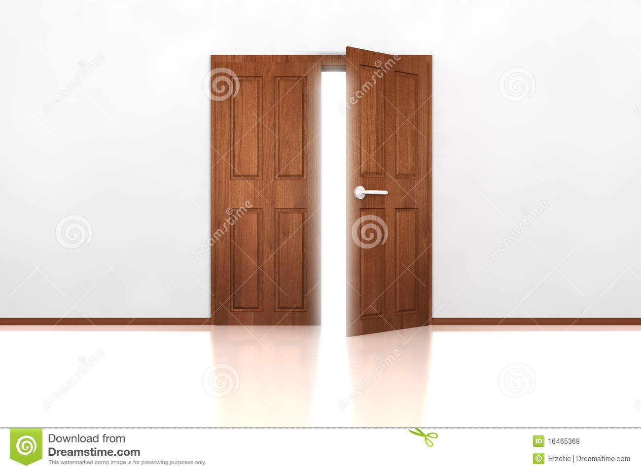 double door half open royalty free stock photos image