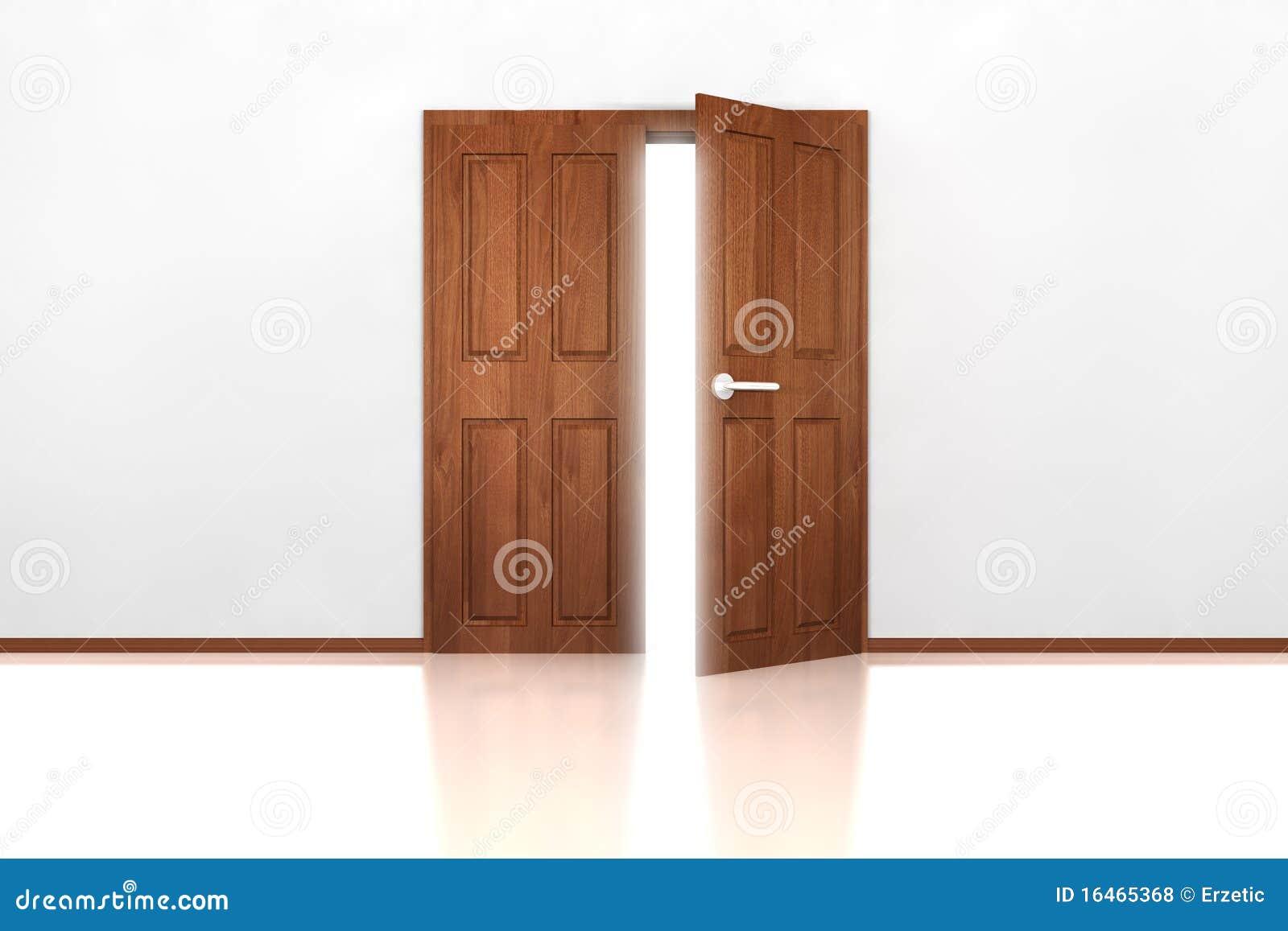 Beau Double Door Half Open