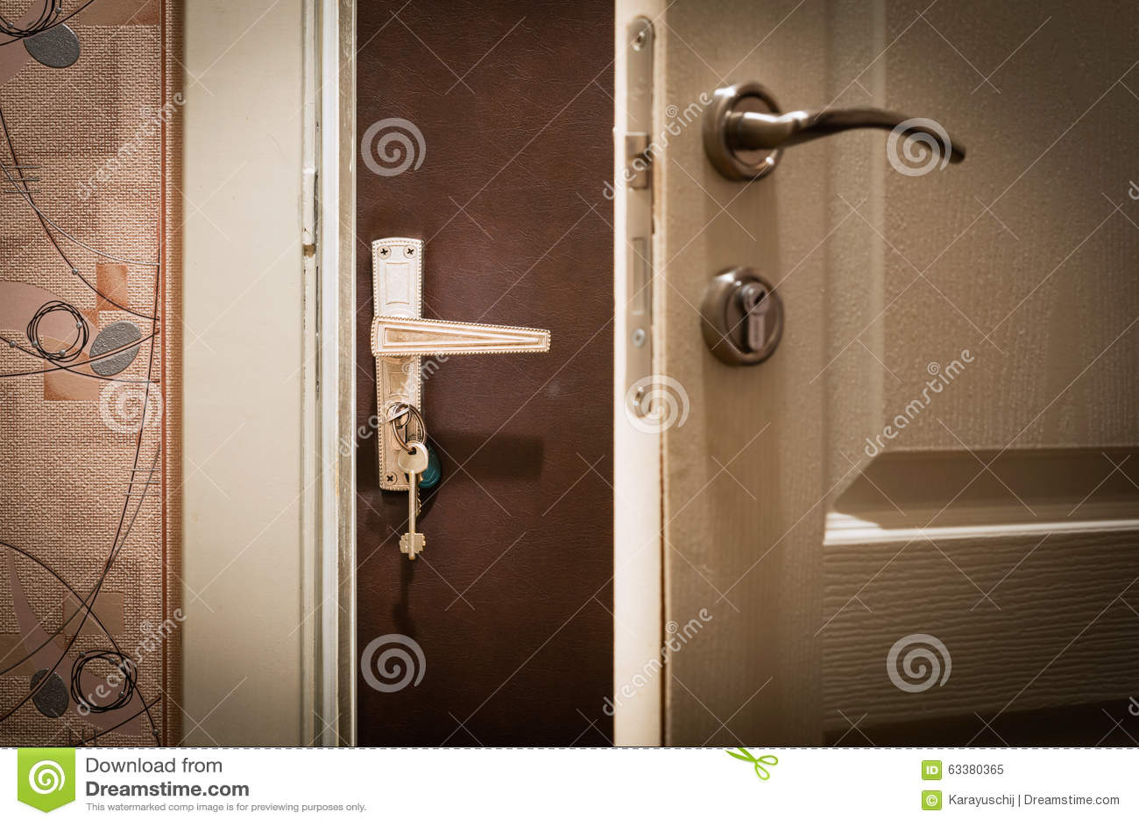 Double Door At Home Stock Photo Image 63380365