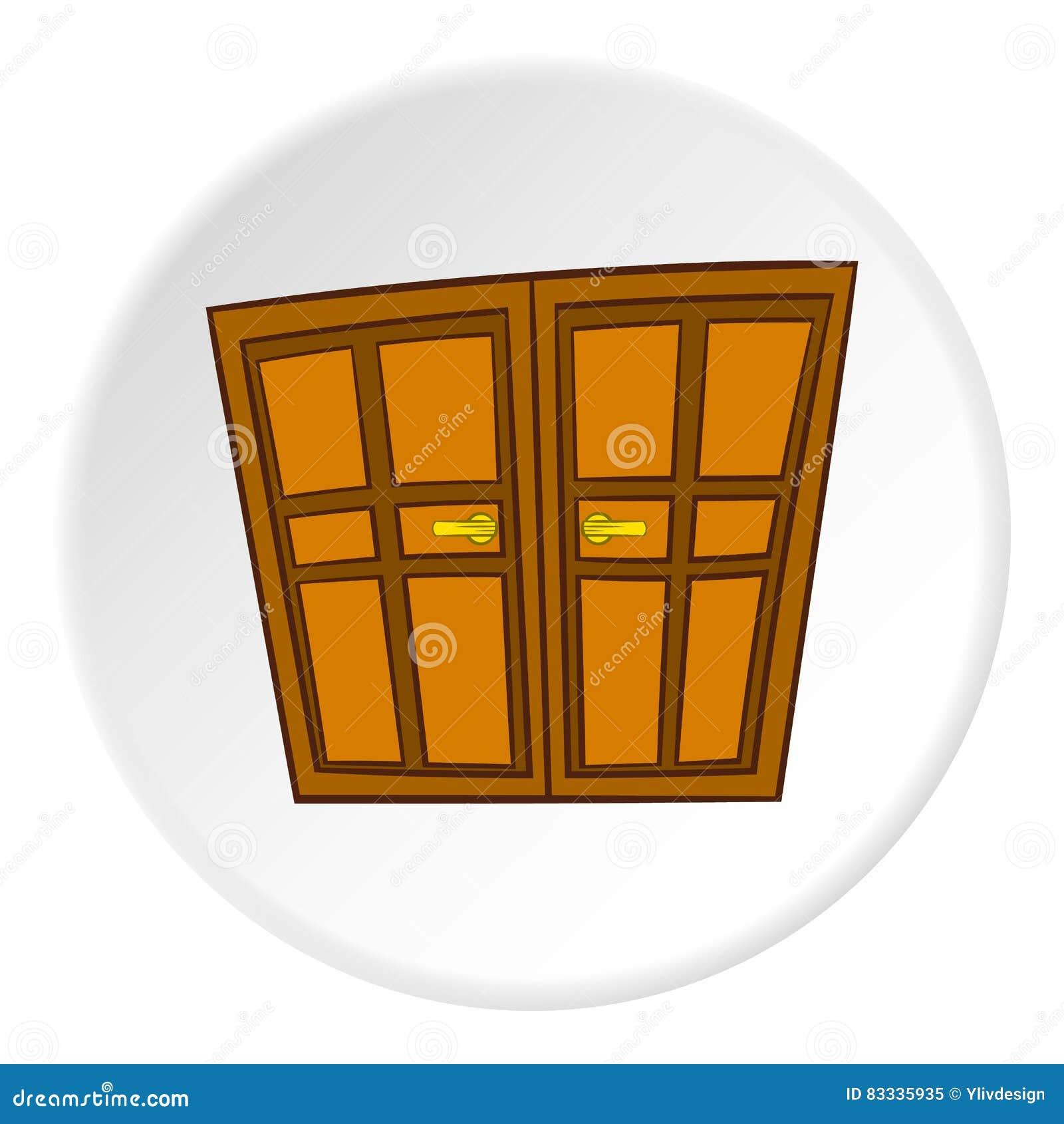 Double Door Icon, Cartoon Style Stock Vector - Illustration of house on