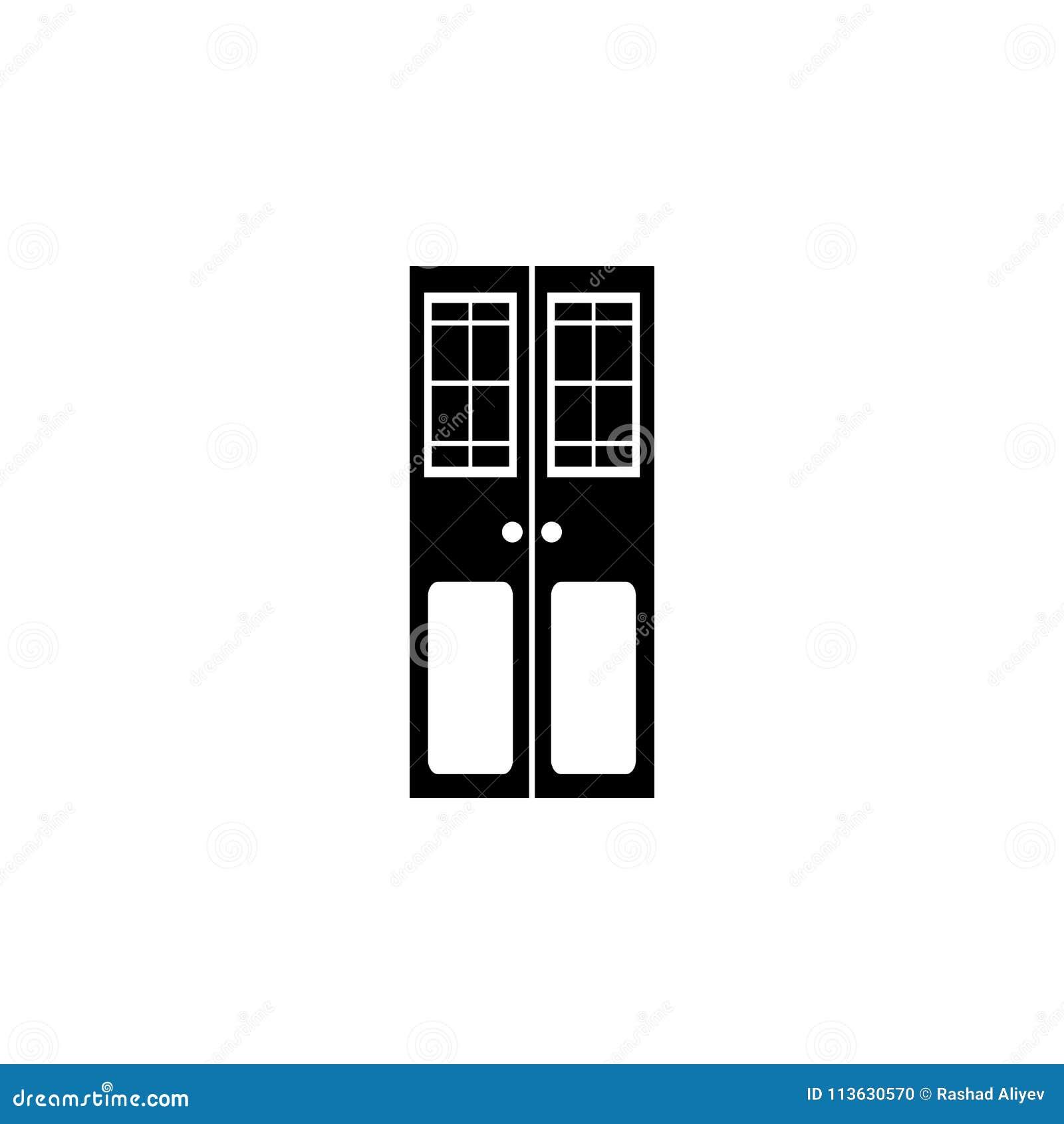 Double Door Icon Element Of Door Elements Illustration Premium