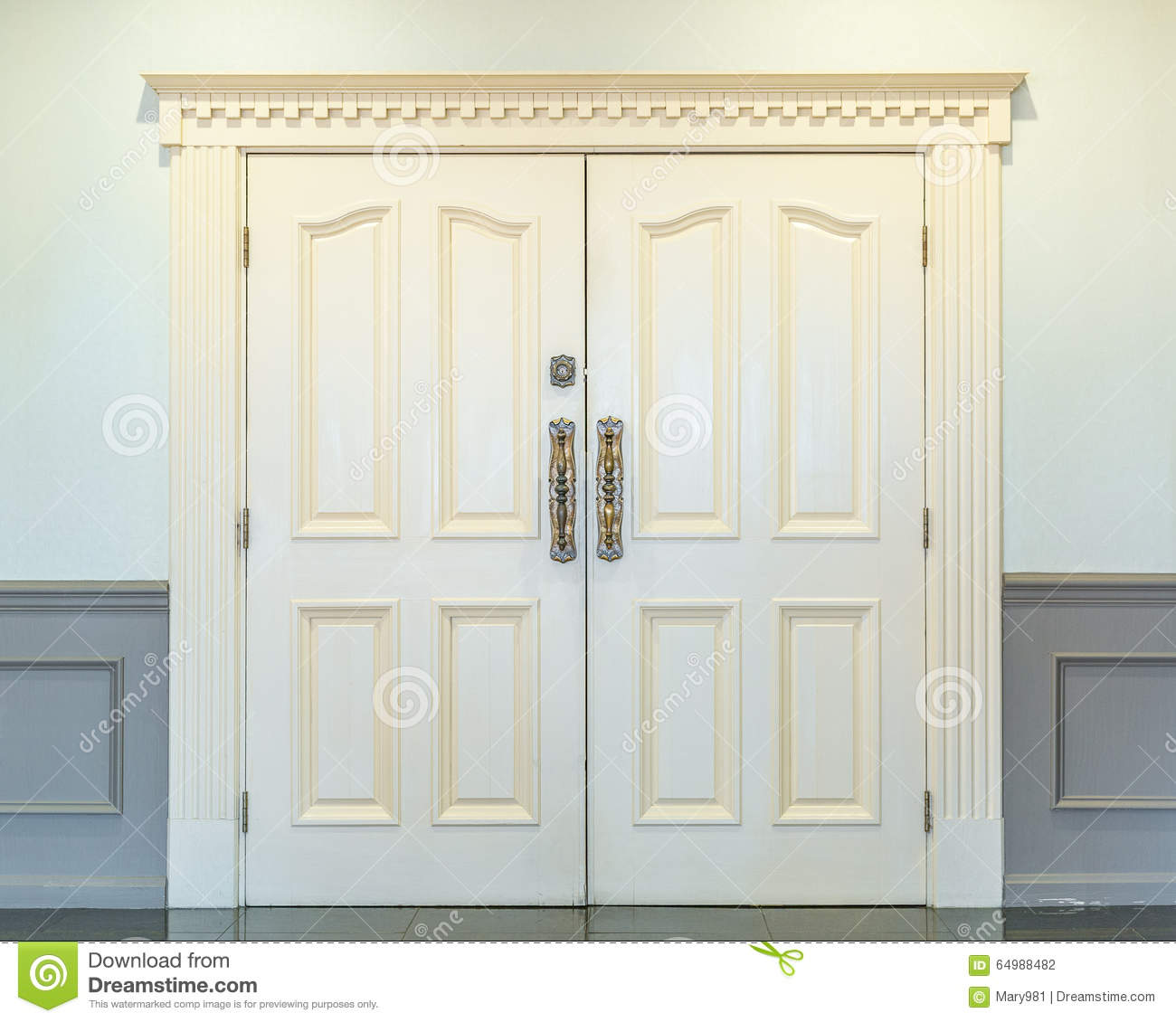 Double Doors Interior Stock Photo Image Of Style Front 64988482