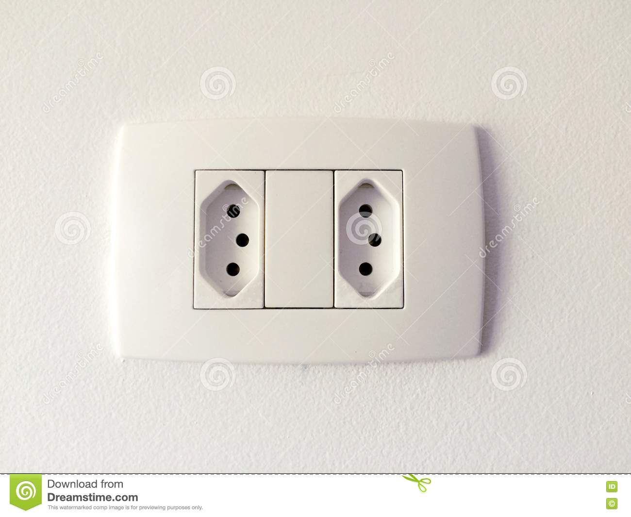 Double Electrical Outlet Stock Photo - Image: 74987957
