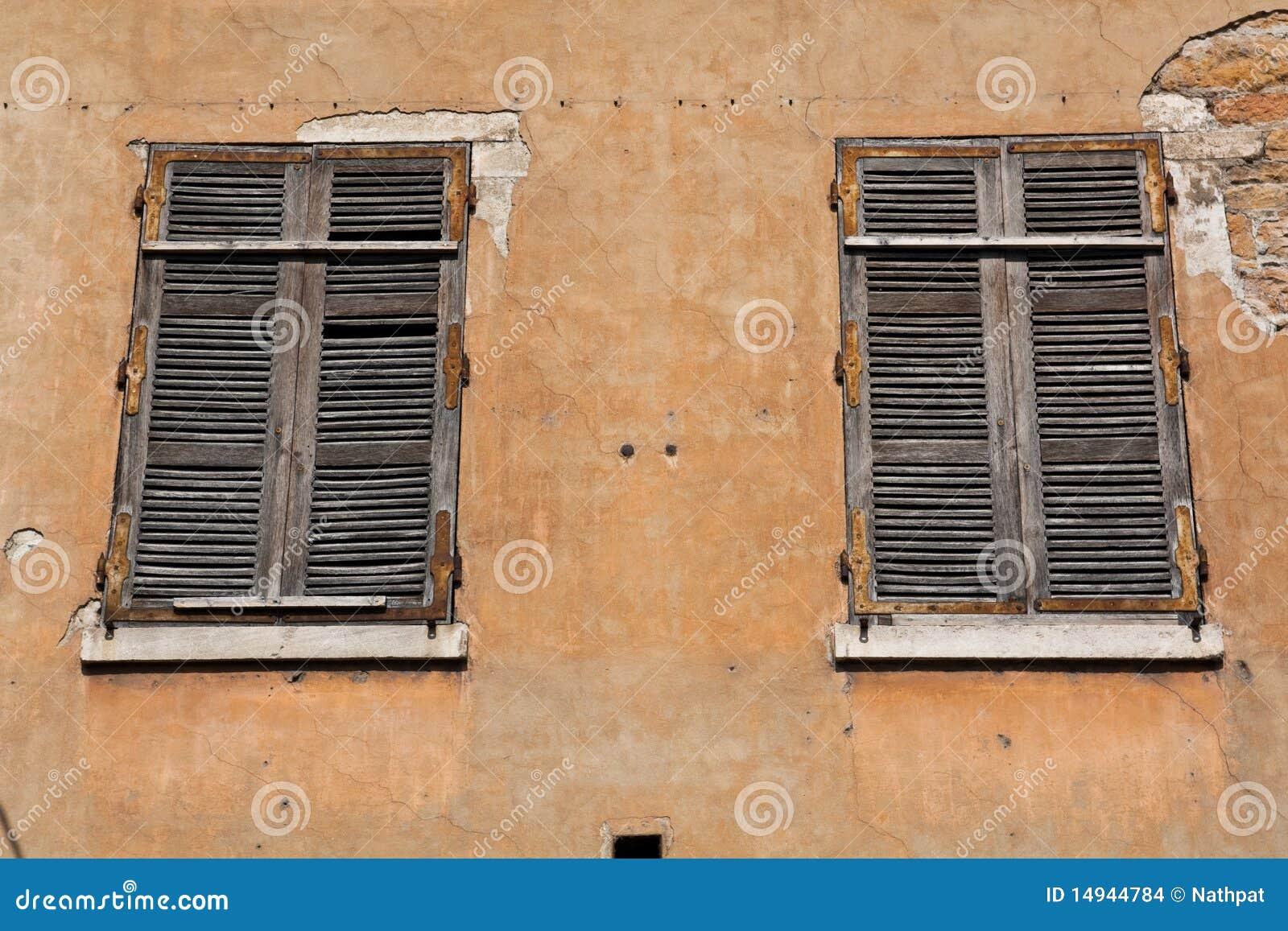 Double European Style Windows Stock Images Image 14944784