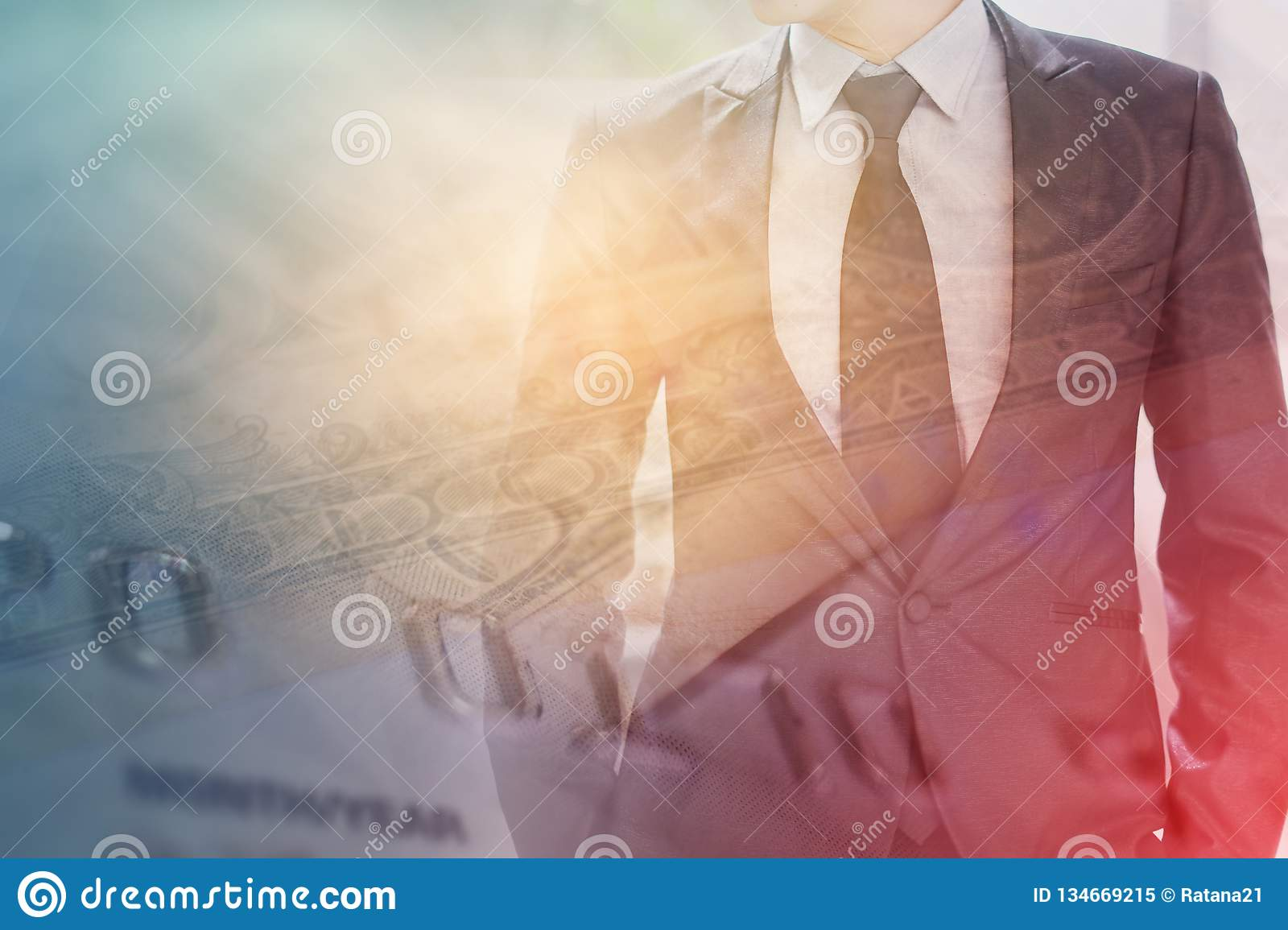 90d750fc61868 Double exposure of credit card and business man for business and finance  background