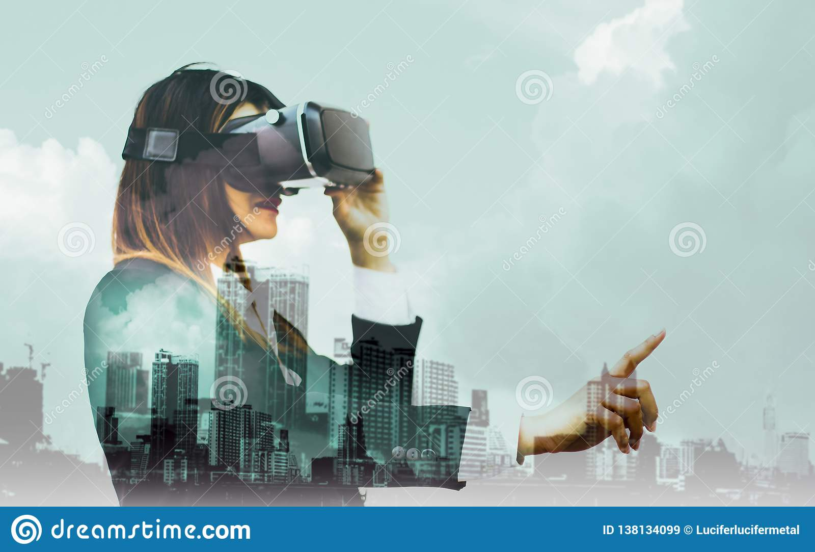 Double Exposure-Future VR Headsets,women Business In Suits