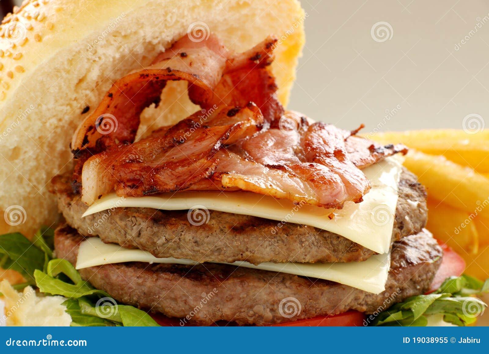 Double för baconhamburgareost