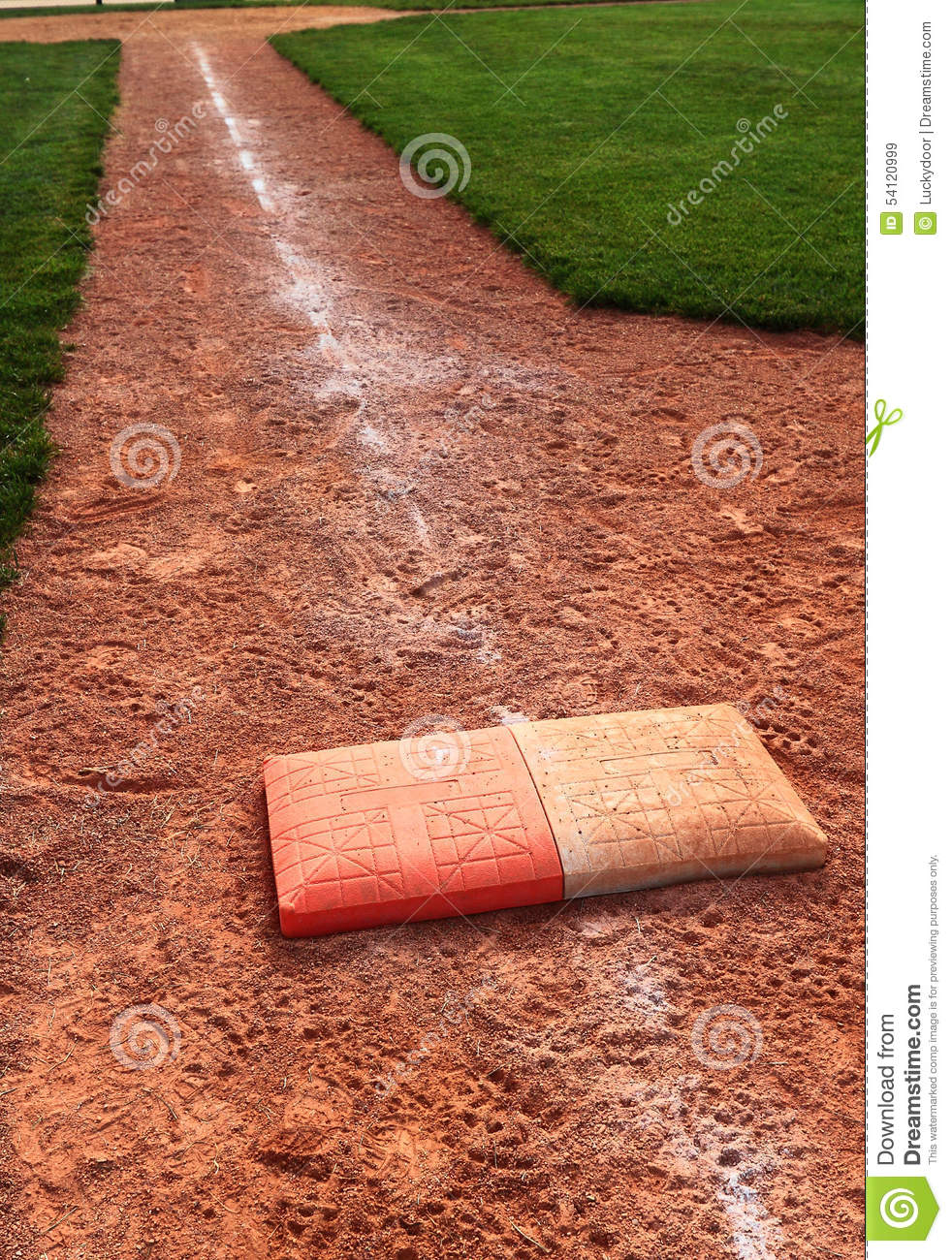 double first base chalk foul line stock photo image 54120999 double first base chalk foul line