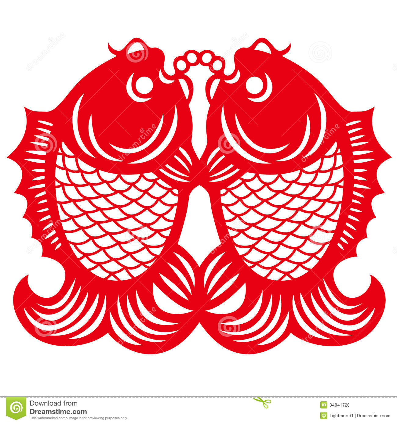 Double Fishes Stock Photo Image 34841720