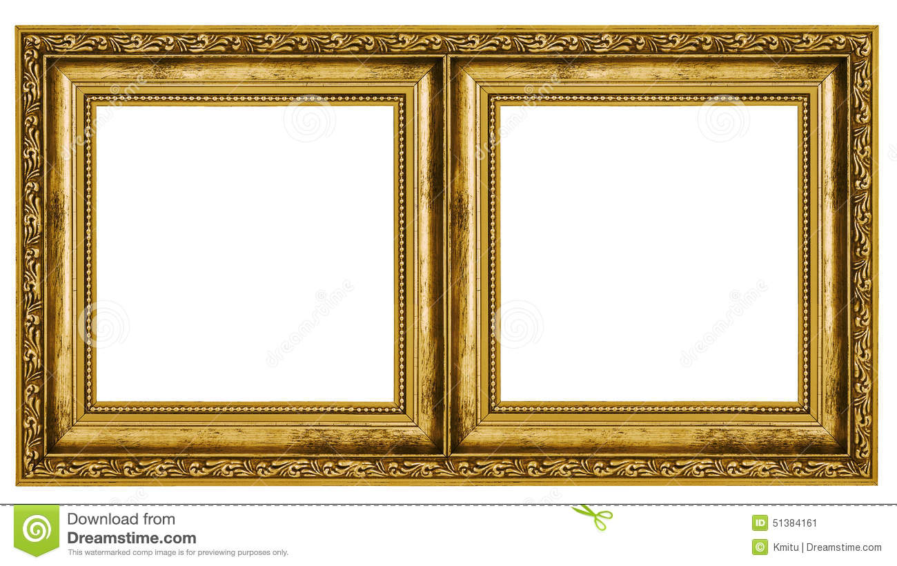 Double frame stock image. Image of gilded, decorated - 51384161