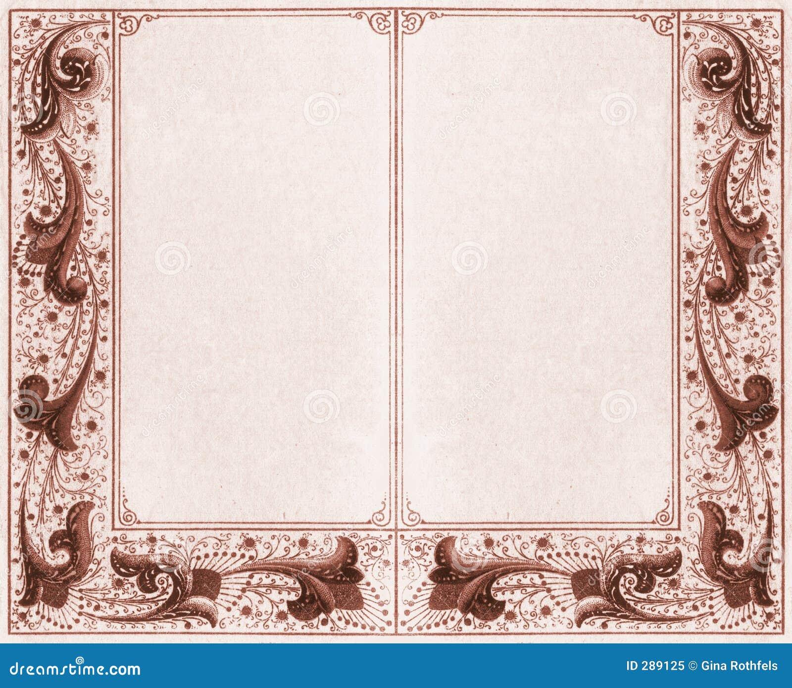 double frame sepia royalty free stock photo