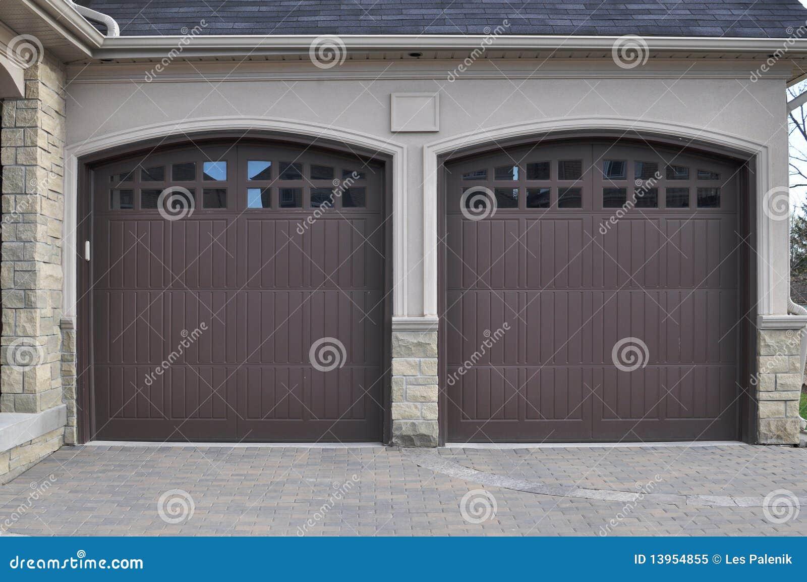 953 #736F58 Double Garage Doors Royalty Free Stock Photo Image: 13954855 image Garage Doors Delaware 37431300