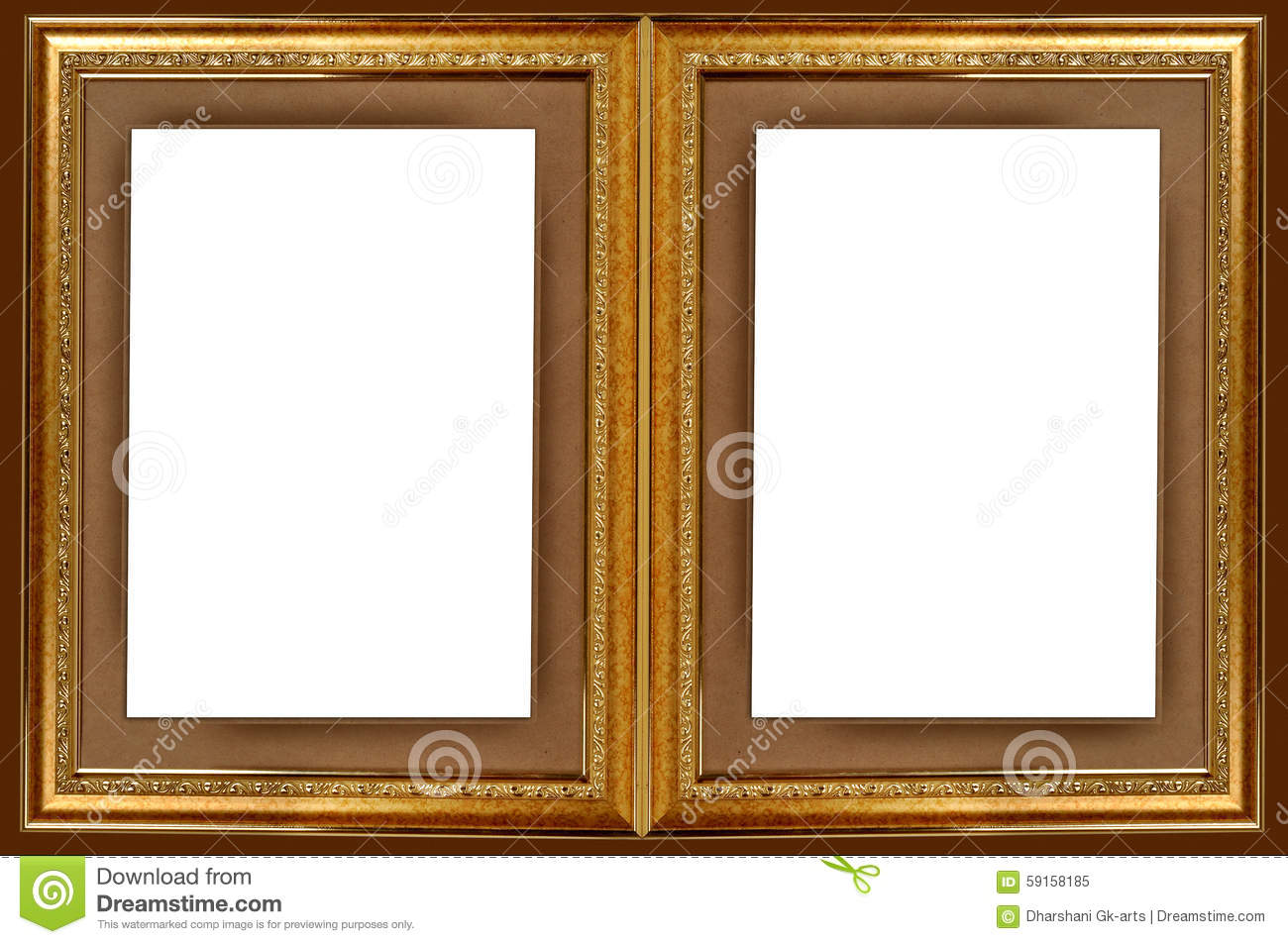 double gold picture frame