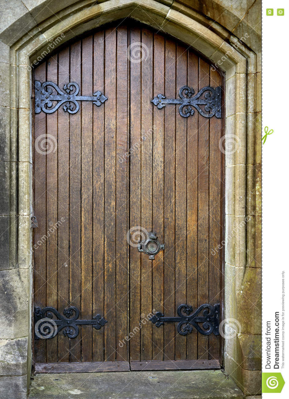 doors double gothic ... & Double Gothic Doors Stock Photo - Image: 74071828 Pezcame.Com