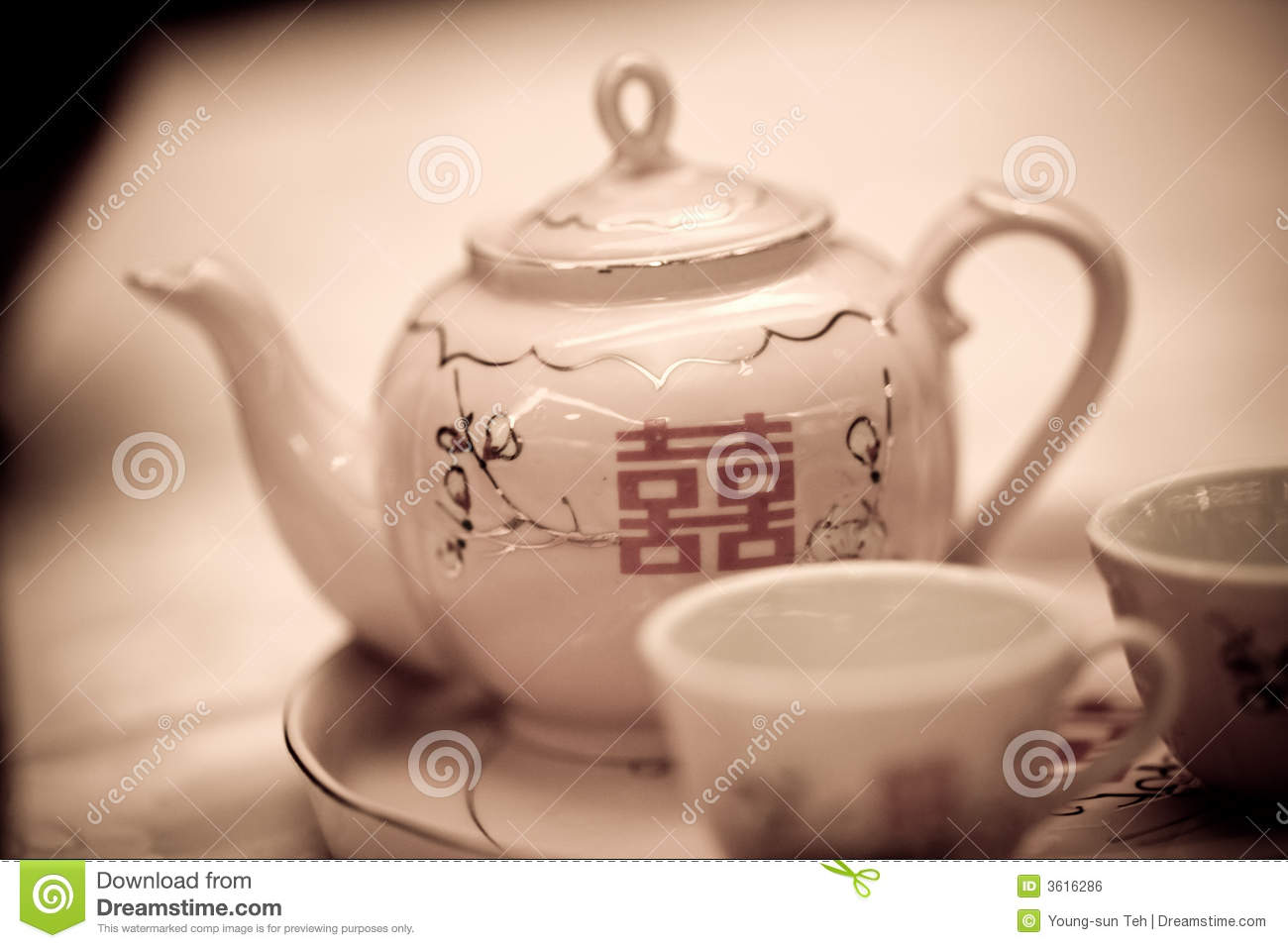 Double happiness teapot