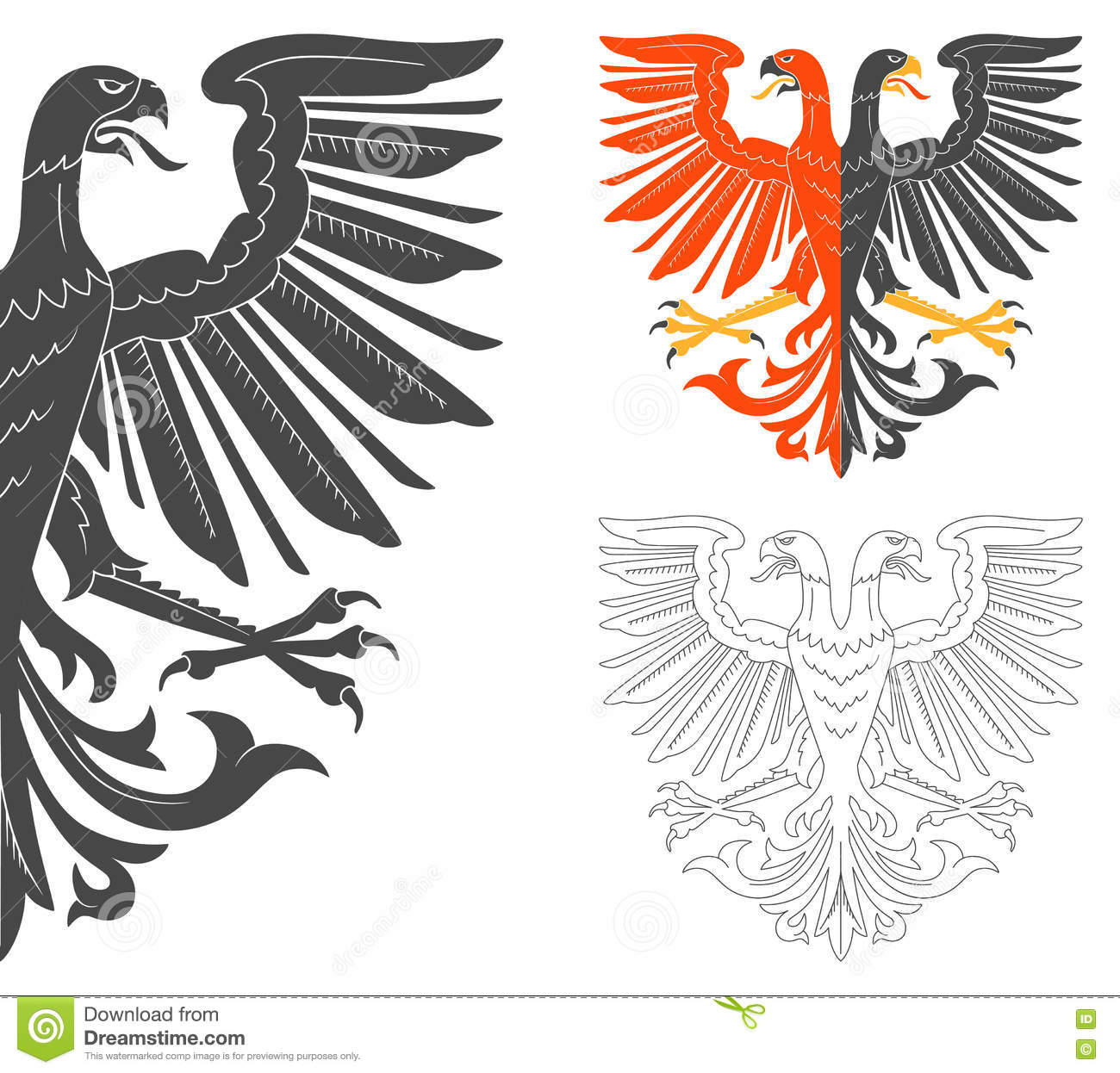 Double Headed Eagle Illustration Stock Vector Illustration Of