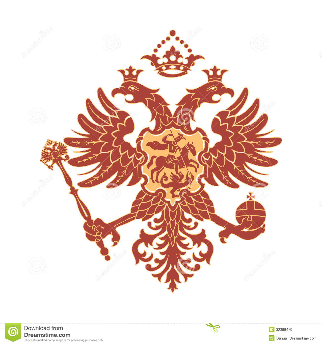 doubleheaded eagle stock illustration image of dragon