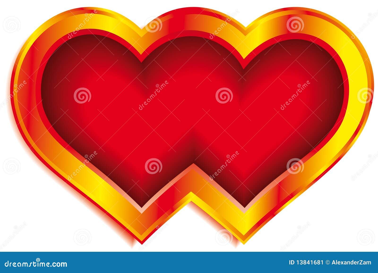Как сделать двойное сердечко