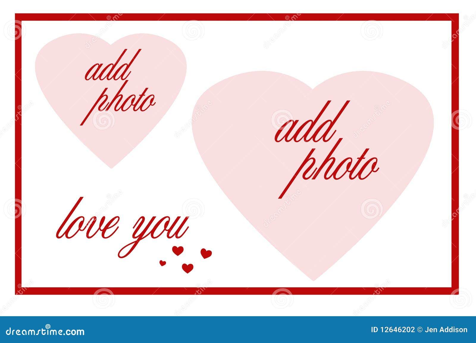 double heart frame stock illustration  image of frame