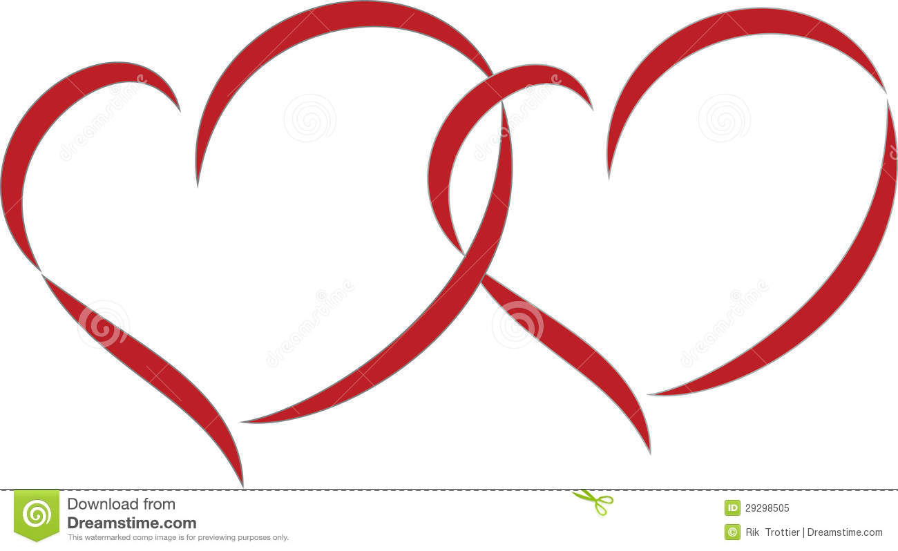 Wedding Hearts Clipart Double hearts Royalty Free