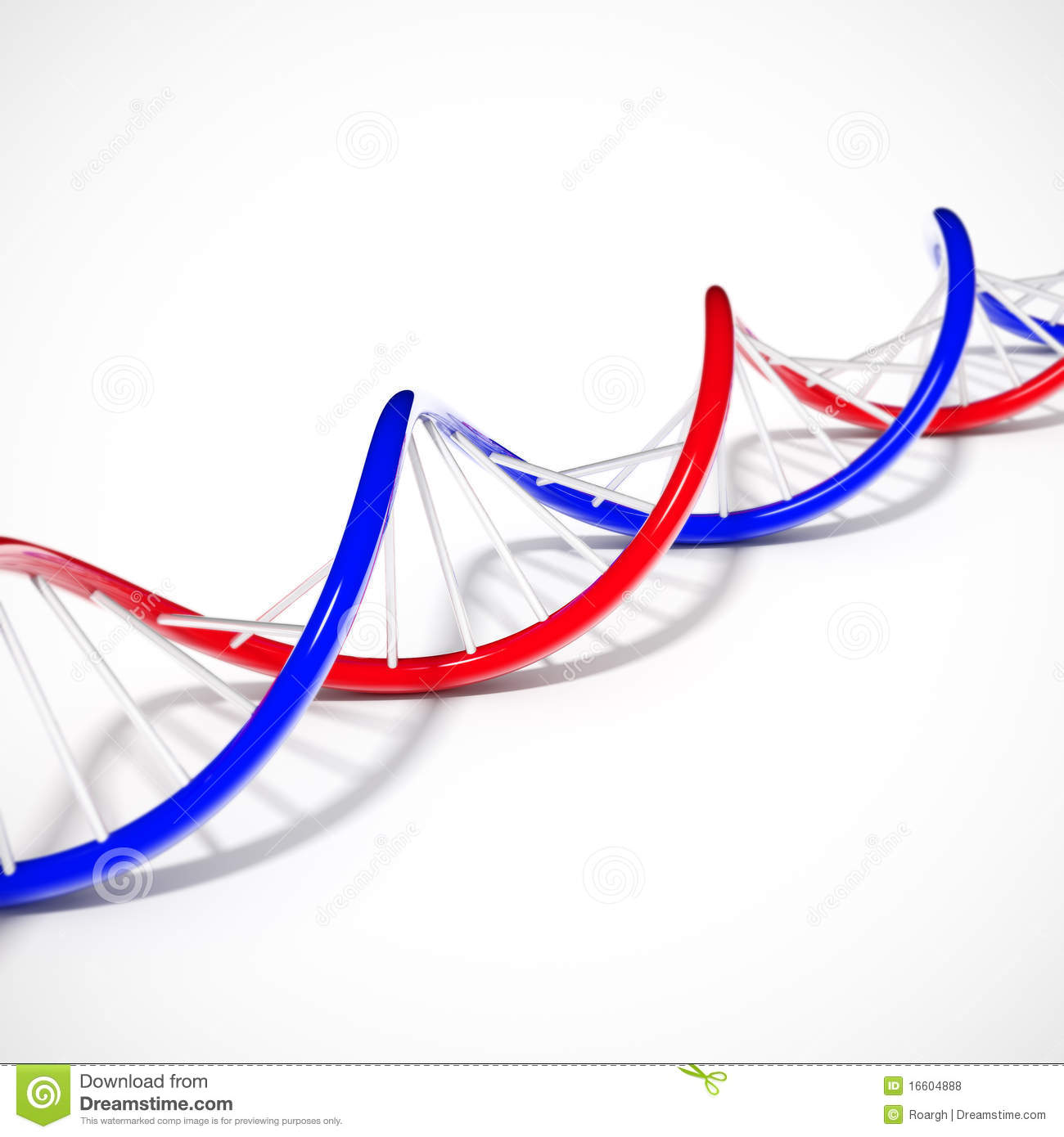 double helix dna stock illustration  image of magnifying