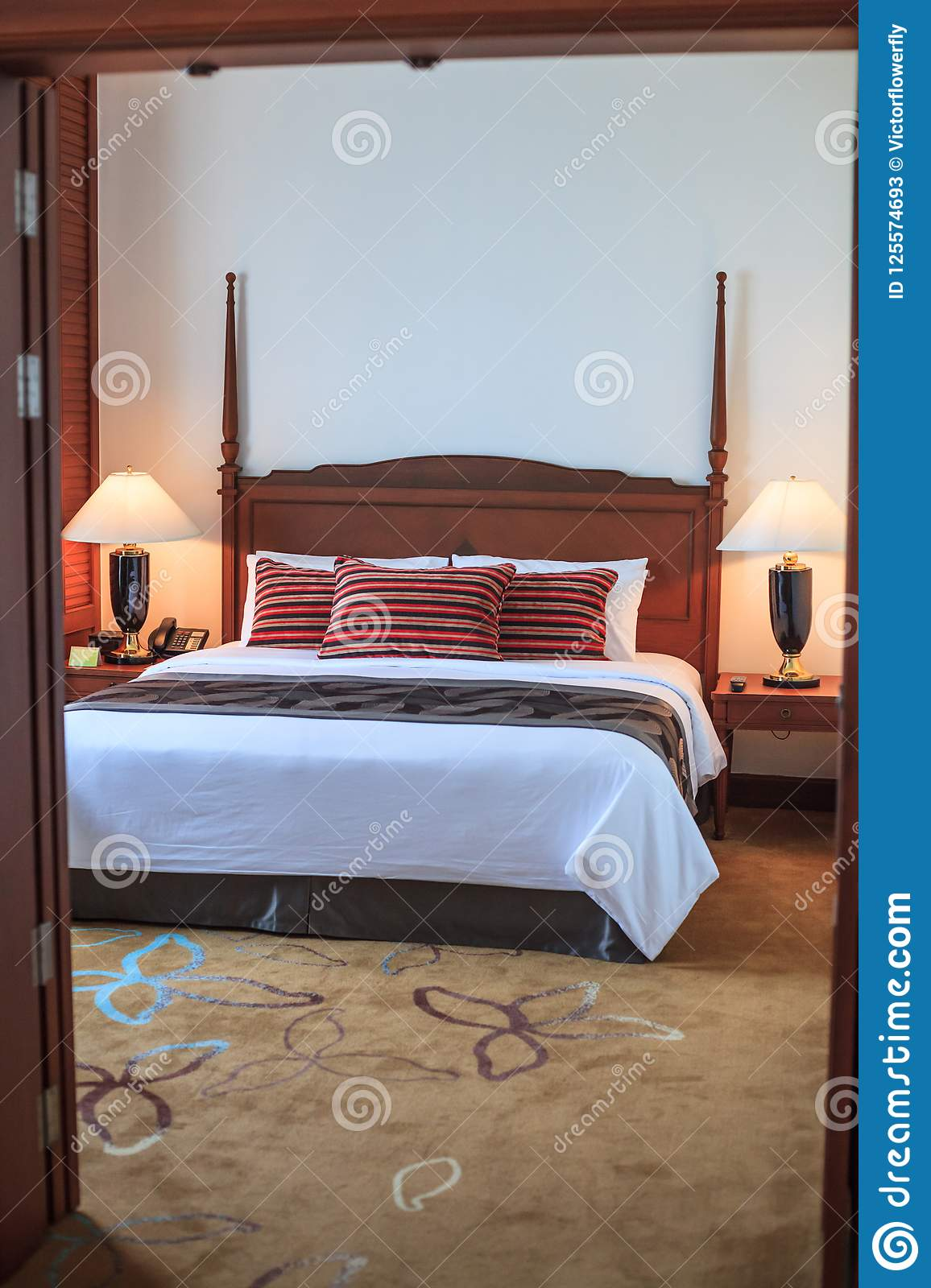 Double King Size Bed Room Hotel Resort Apartment Residential ...