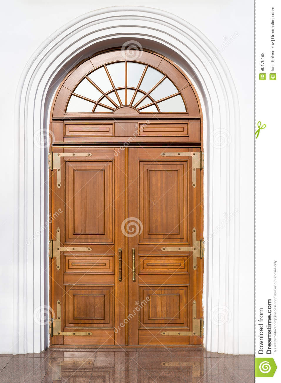 Double Leaf Entrance Wooden Door Stock Photo Image Of Product