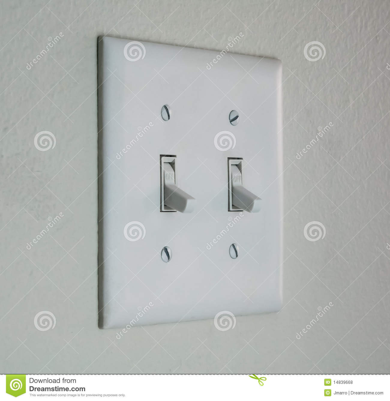 Double Light Switch Plate Stock Photo Image Of Wall
