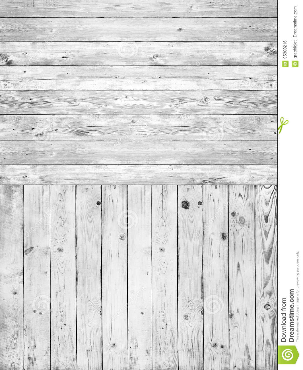 Double Light Wood Texture In Grey Stock Photo