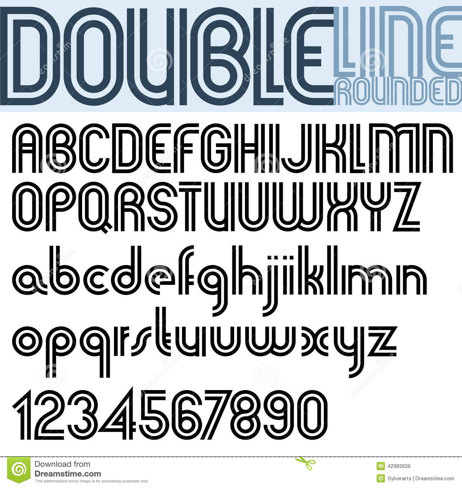 Stylish alphabet only a