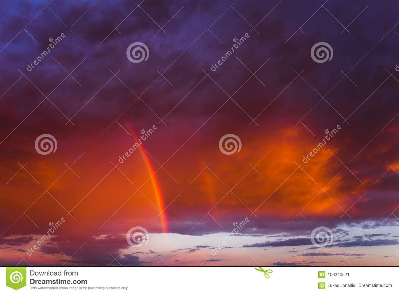double rainbow in the sky stock image image of panorama 106340521double rainbow in the purple evening sky