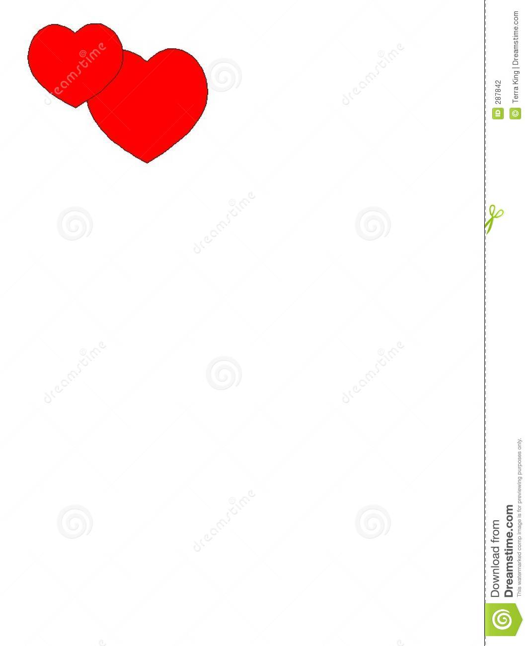 Double Red Hearts Template Stock Illustration Image Of