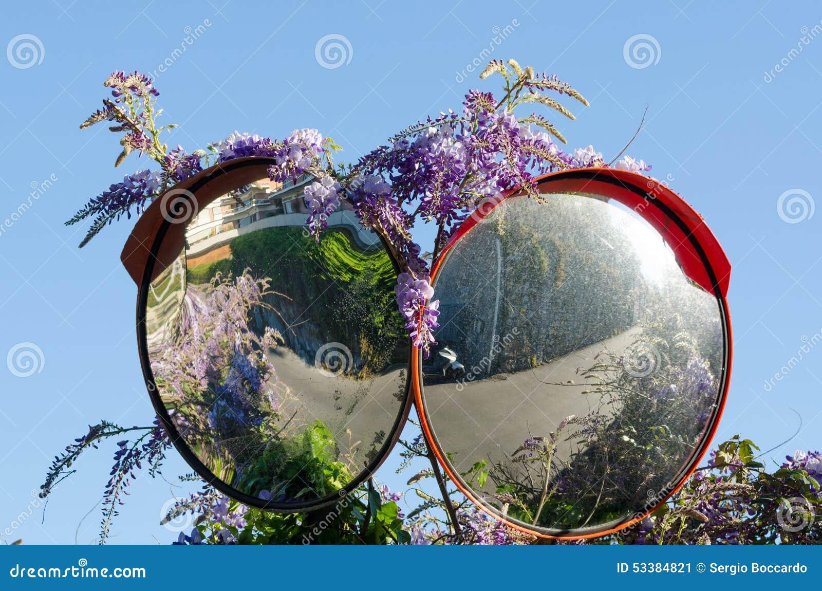 Double road mirror