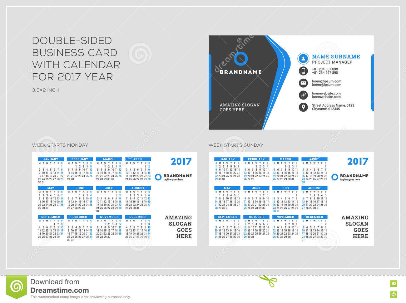 Cool Business Card Calendar Template Pictures Inspiration - Business card calendar template
