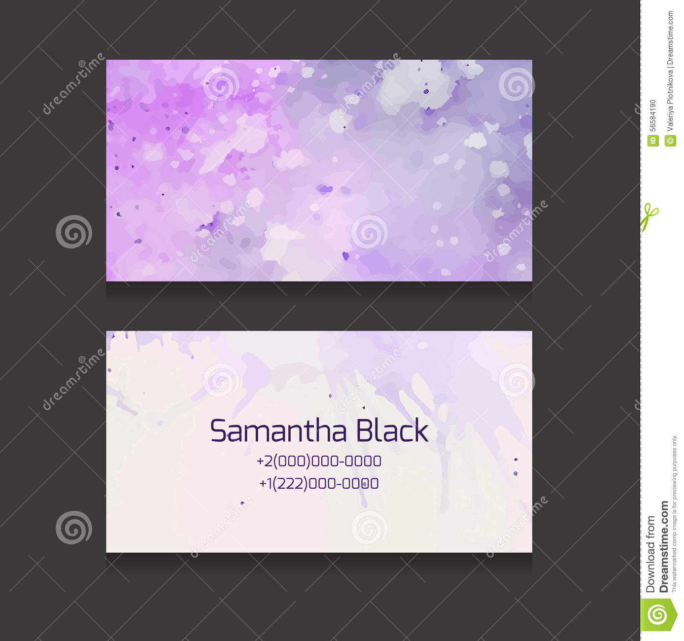 Double Sided Business Card Template Stock Vector Illustration Of - Free double sided business card template