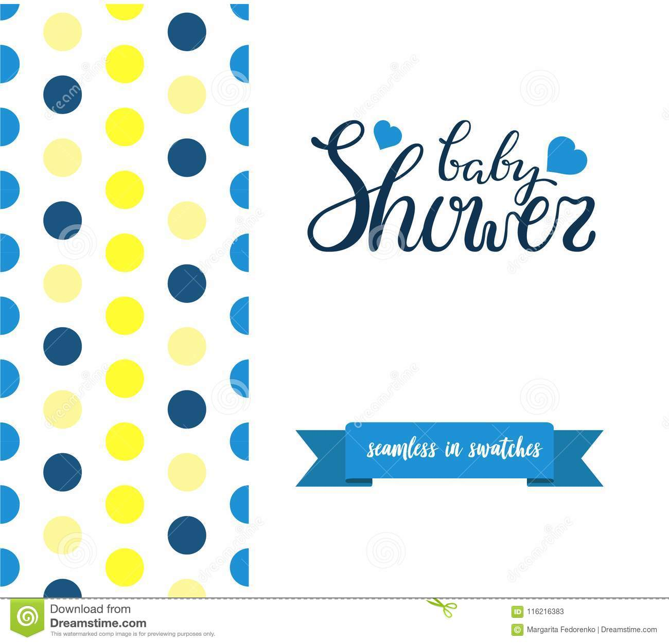 Double Sided Cute Greeting Card For Newborn Baby Boy Shower Party