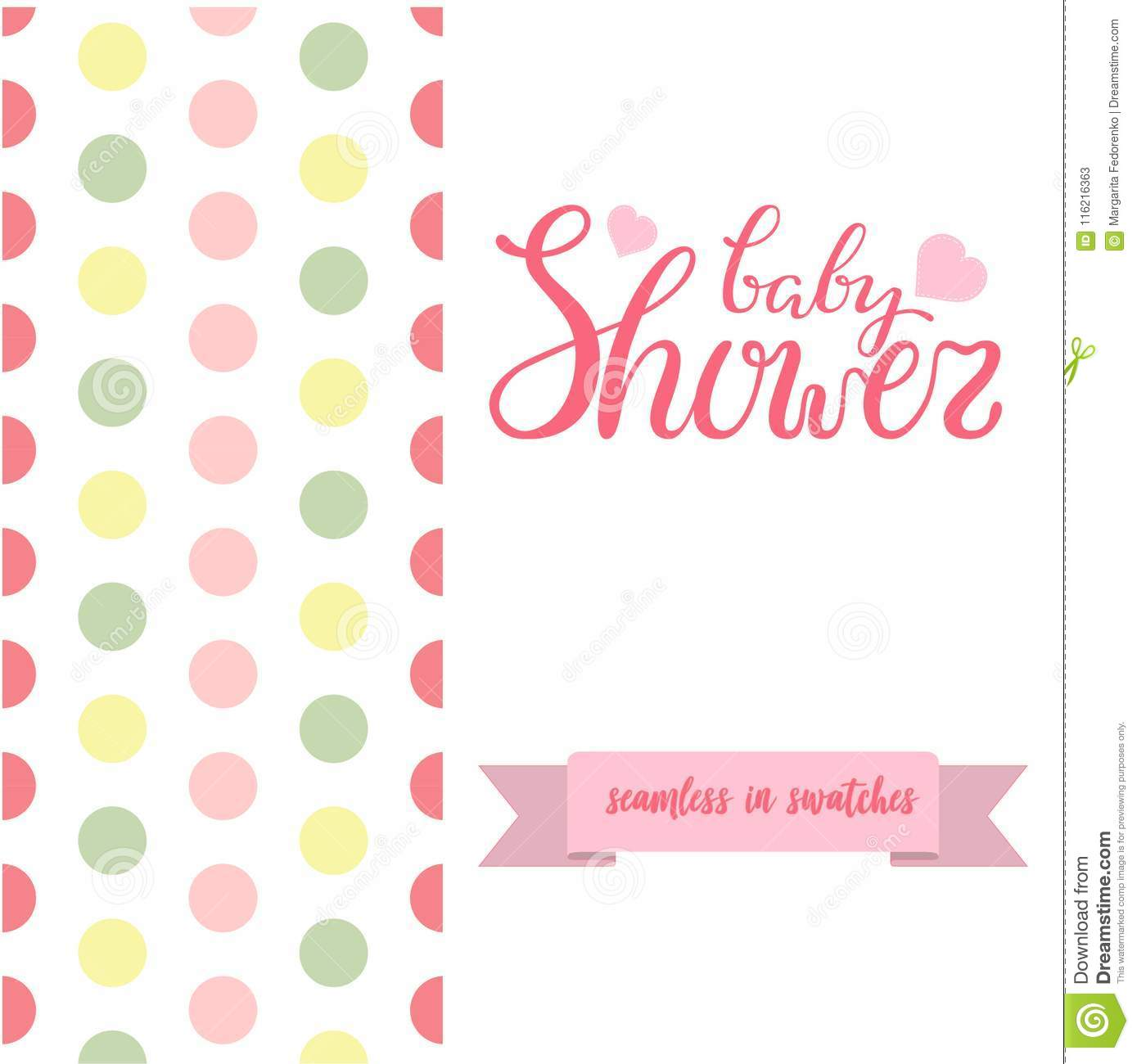 Double sided cute greeting card for newborn baby girl shower party download double sided cute greeting card for newborn baby girl shower party with fabric and pennant m4hsunfo