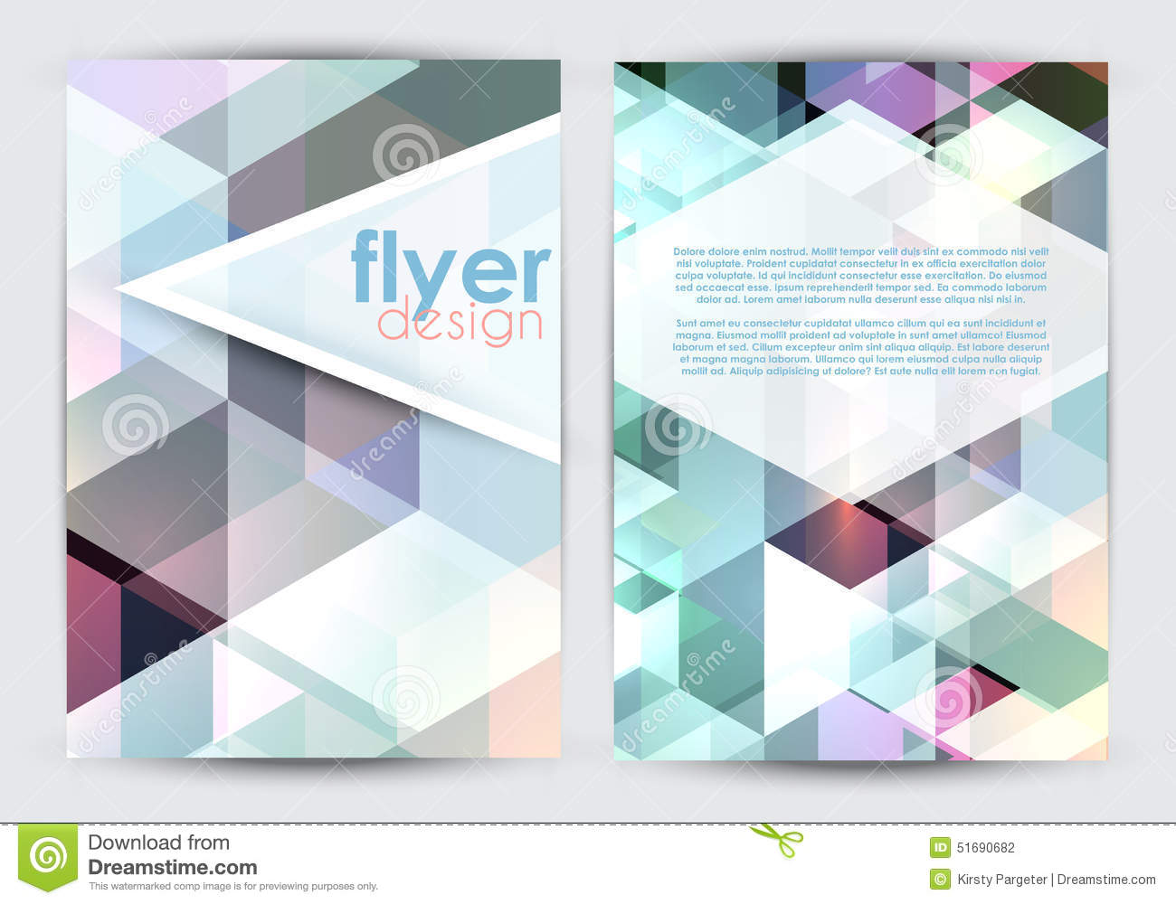Double sided flyer design stock vector image 51690682 for Double sided brochure template
