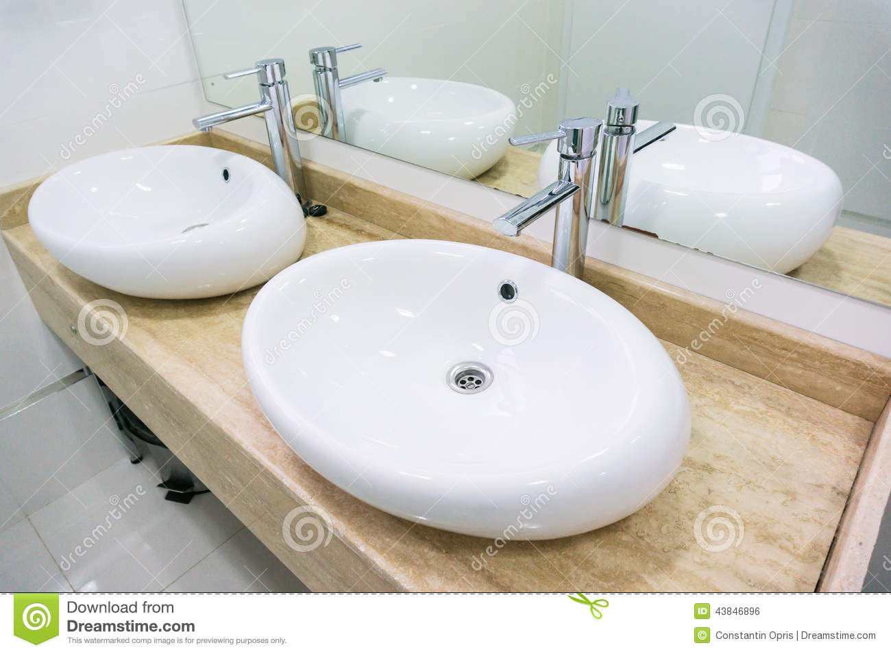 Double Sink In Restaurant Stock Photo Image Of Interior