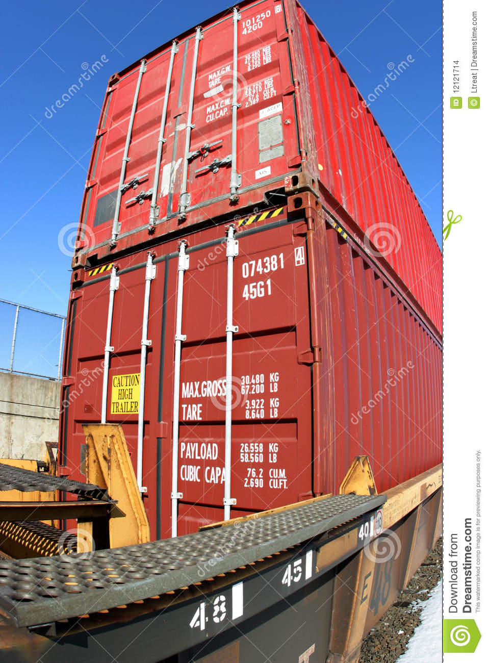 Double Stack Container Train Stock Images Image 12121714