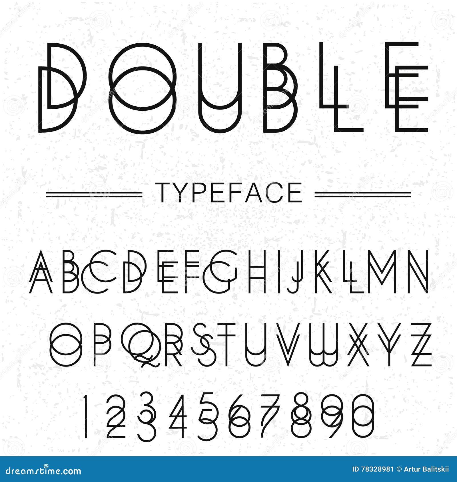 double typeface font made by doublescript modern letters sansserif