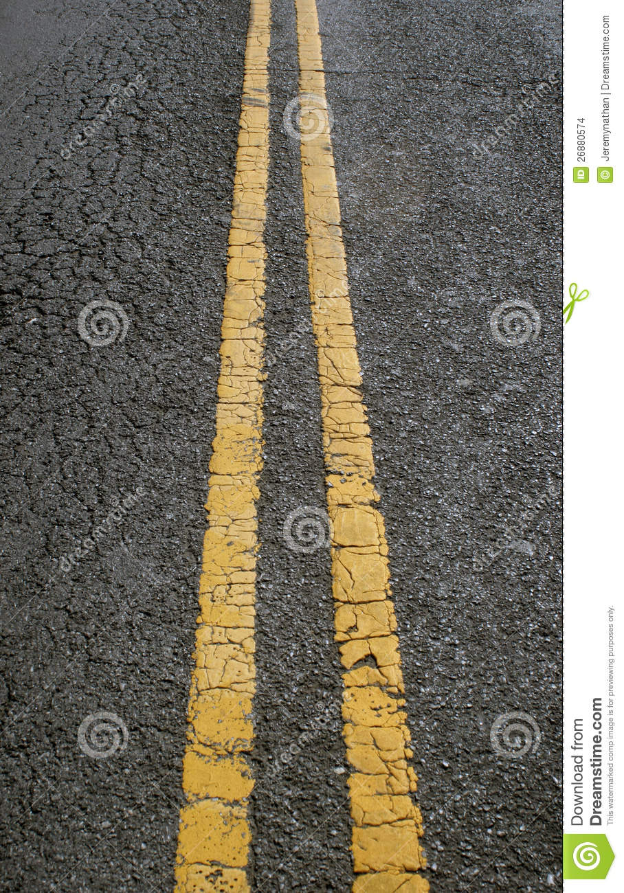 Car Paint Prices >> Double Yellow Parallel Lines In Concrete Road Stock Photo ...