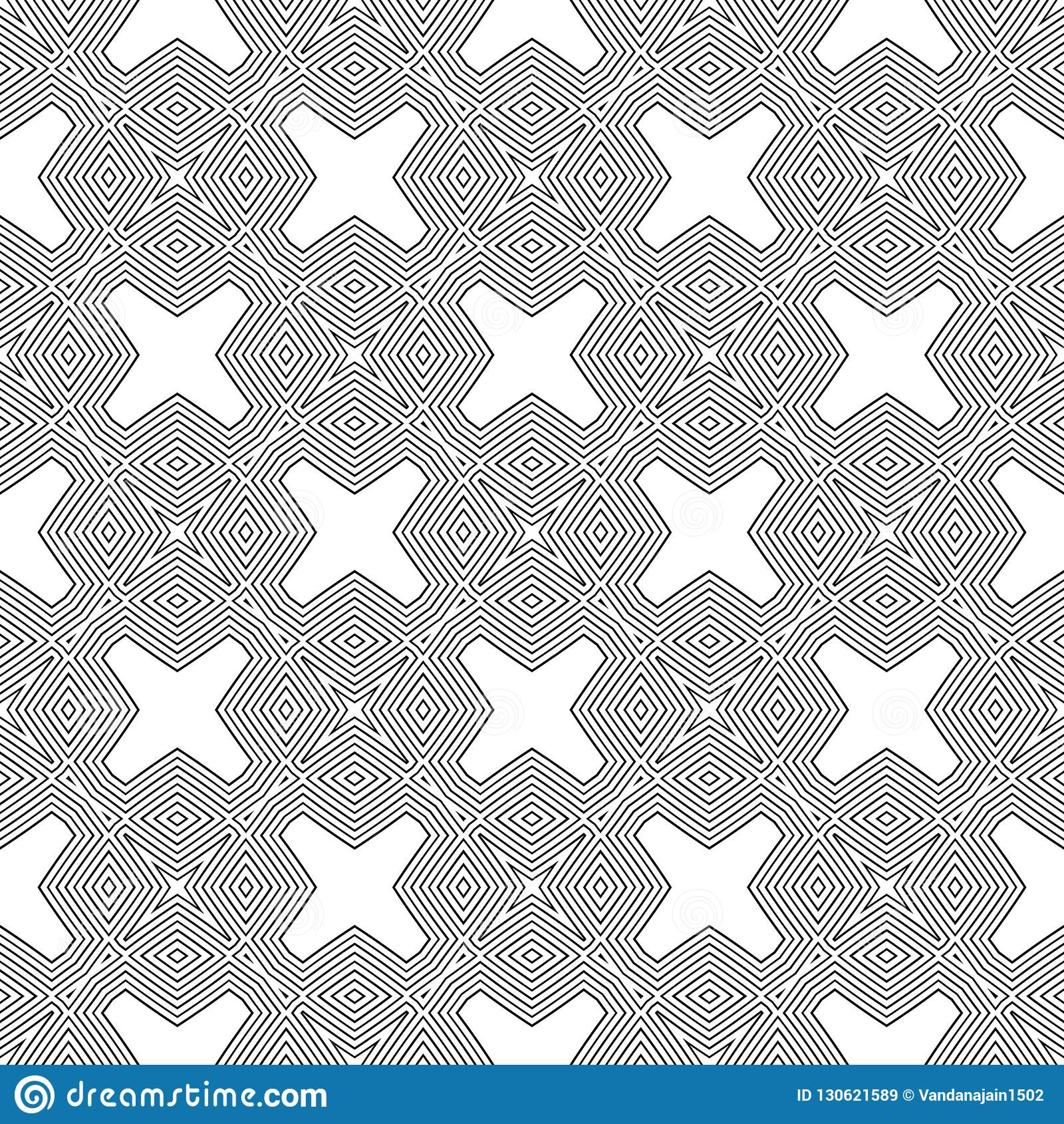 Doublure géométrique de modèle sans couture noir et blanc Fond, places