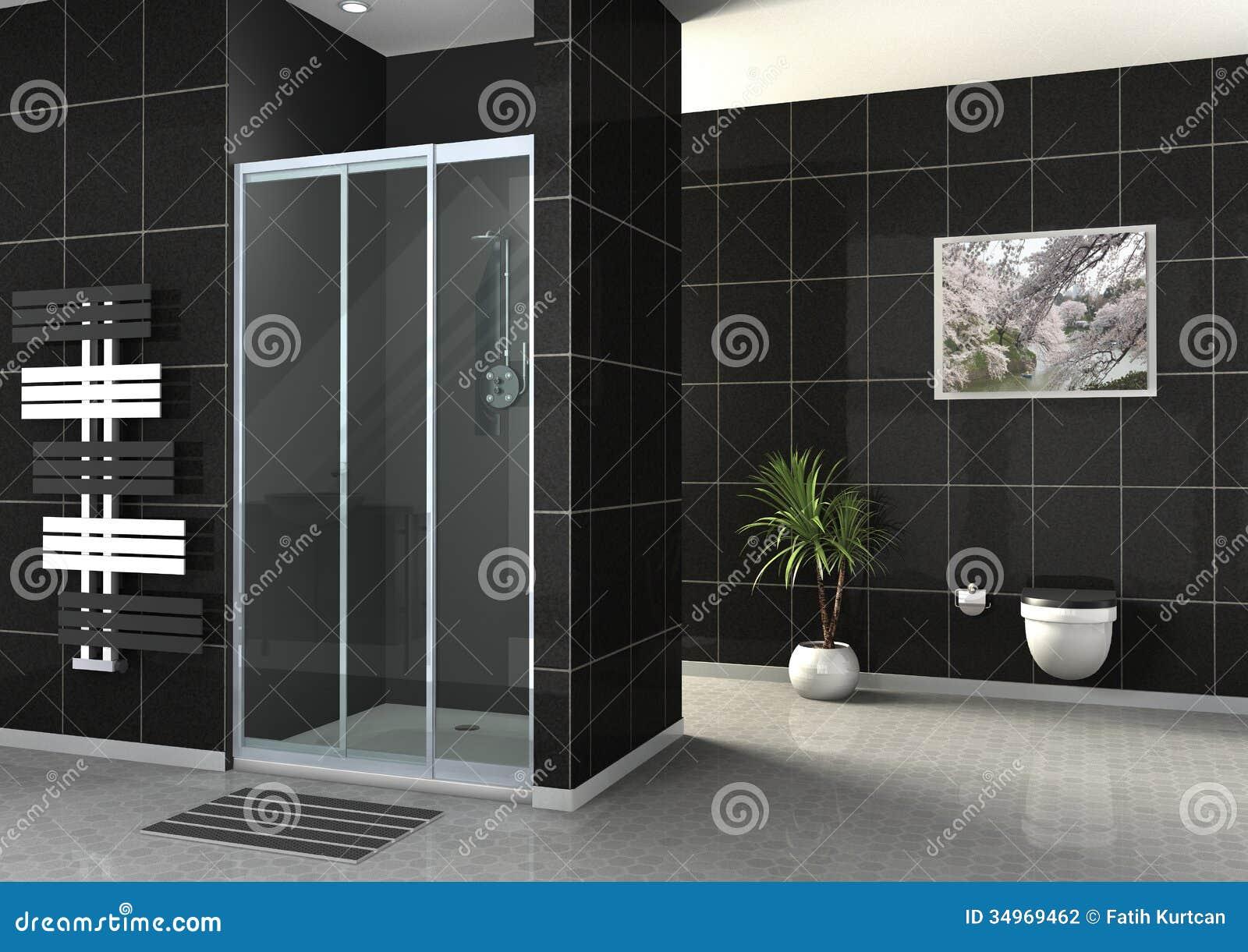 douche de plain pied illustration stock illustration du conception 34969462. Black Bedroom Furniture Sets. Home Design Ideas