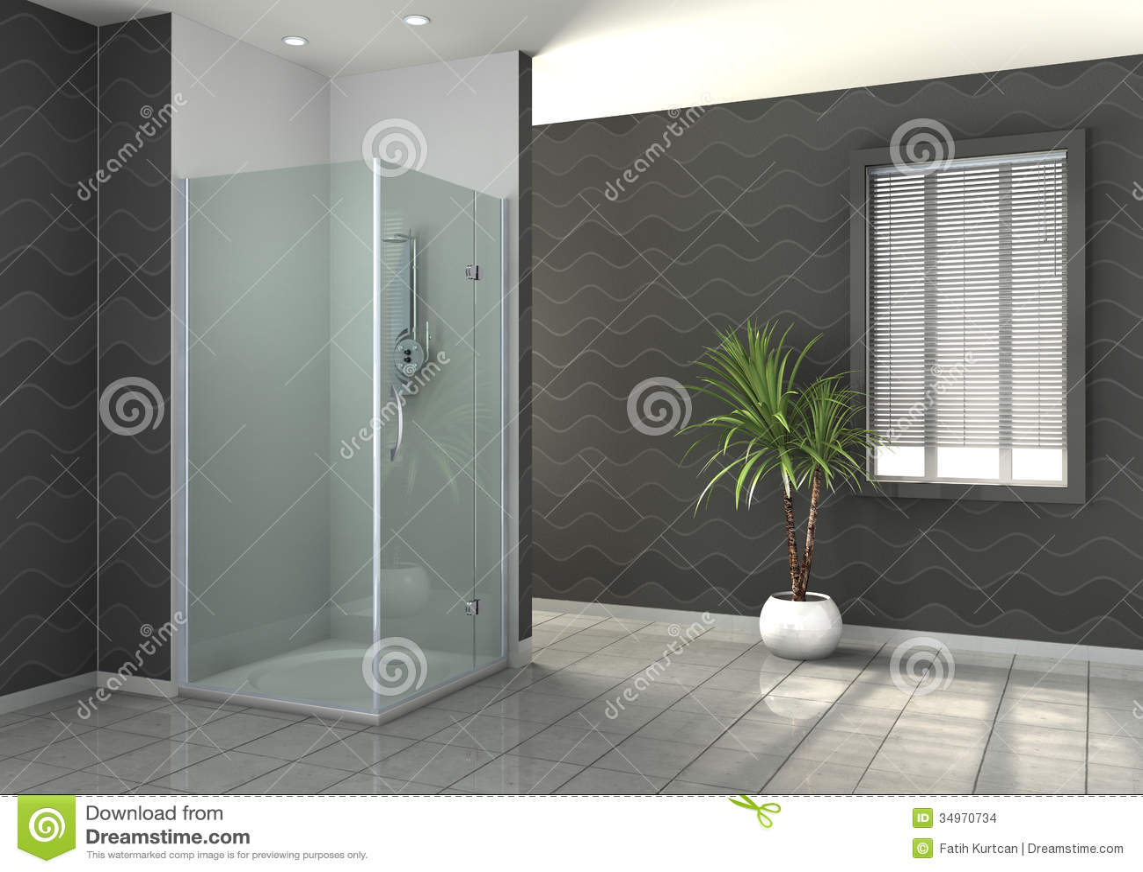 douche de plain pied illustration stock illustration du. Black Bedroom Furniture Sets. Home Design Ideas