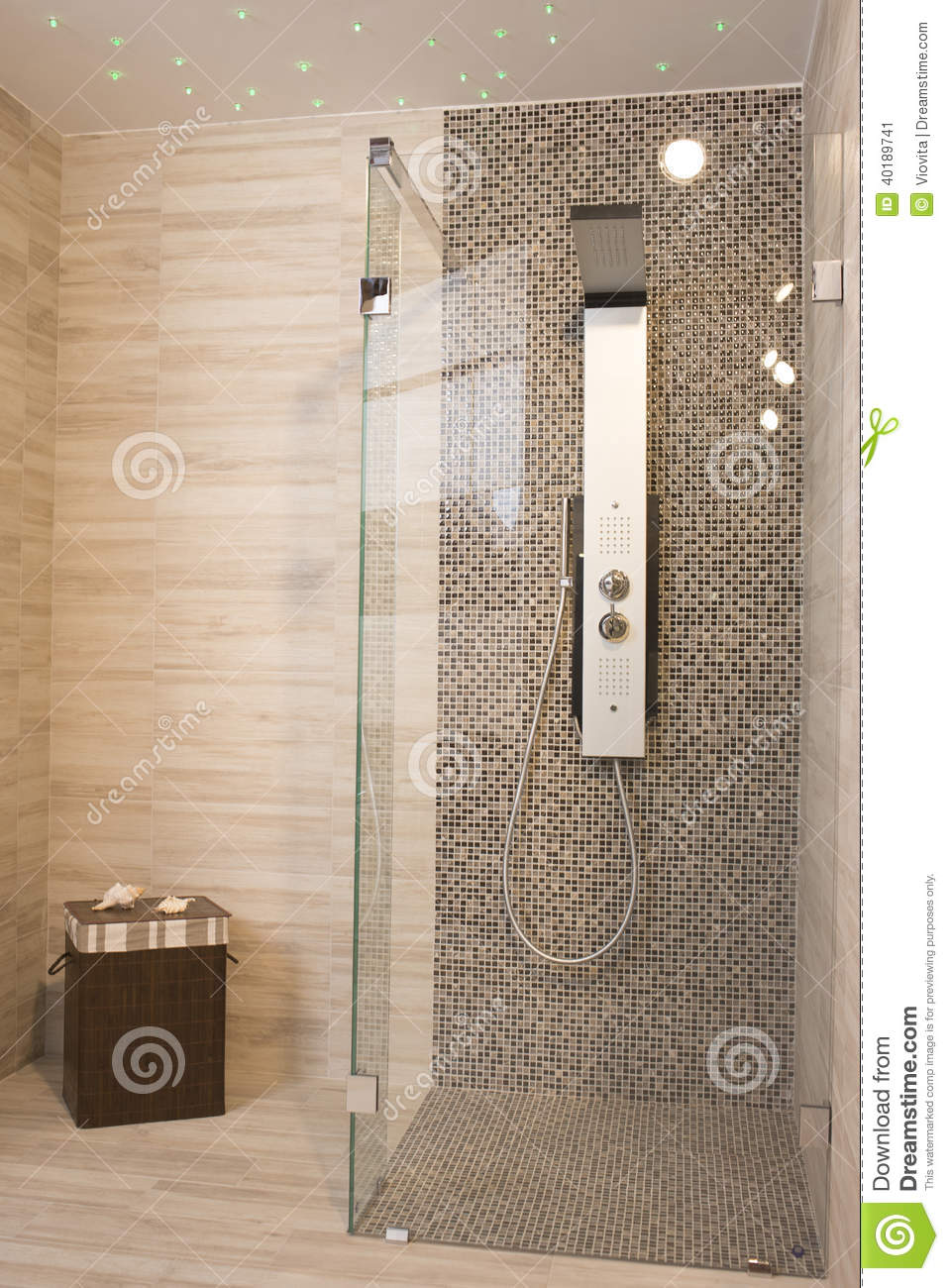 Douche moderne photo stock image 40189741 for Photos de douche moderne