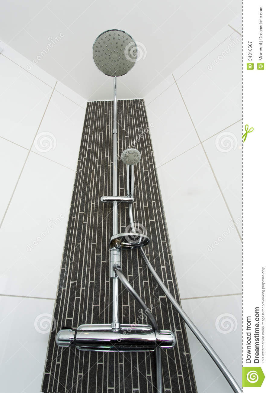 Douche moderne photo stock image 54310567 for Image douche moderne