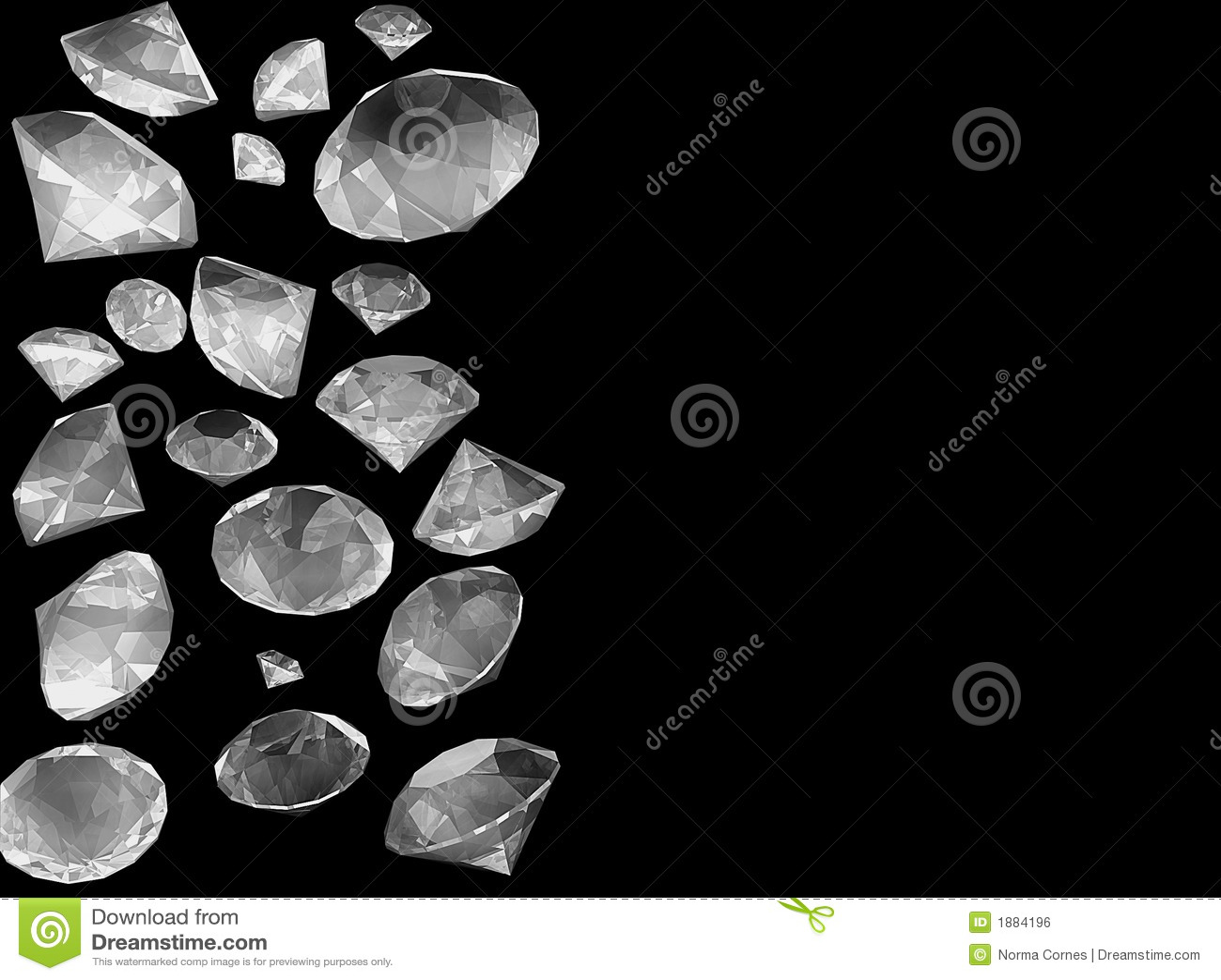 Douche van diamanten