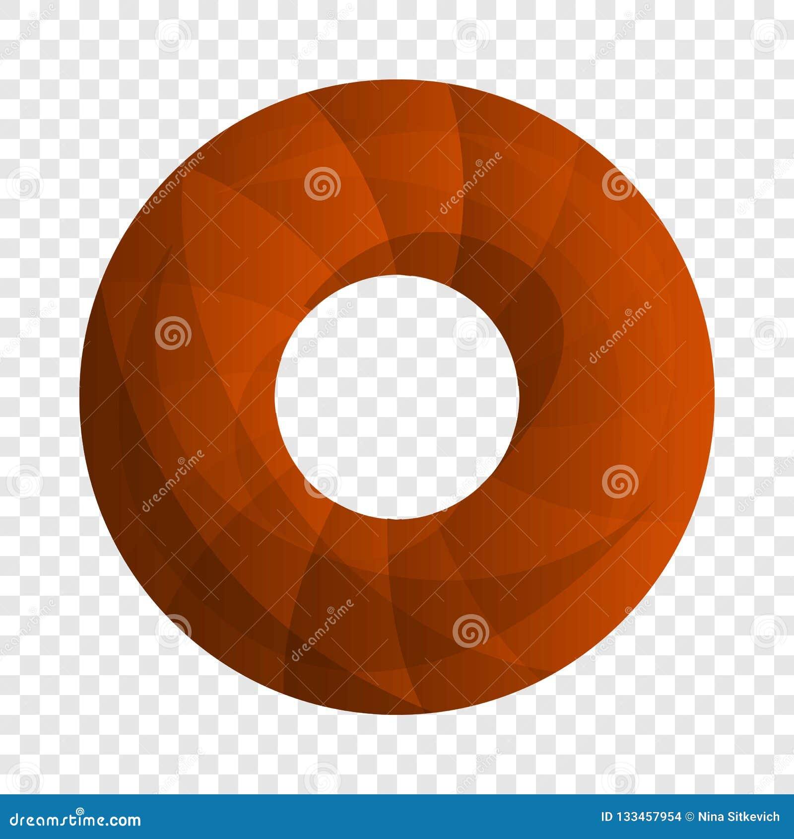 Doughnut εικονίδιο μπισκότων, ύφος κινούμενων σχεδίων